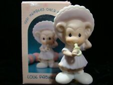 Precious Moments-Monkey/Baby Bonnet-Love Pacifies-Limited Edition 1991