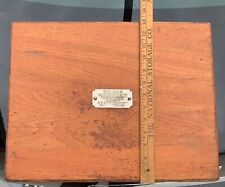 Antique Edison mimeograph No.1 A.B Dick Co. Chicago printing machine Wood BOX