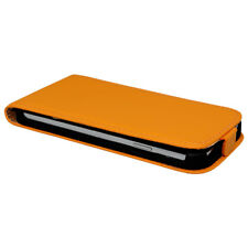CUSTODIA CELLULARE HTC M7 a libro Cover protettiva Pieghevole Arancione