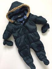 Next Baby Boys Navy Snowsuit With Mittens Age 3-6 Months Autumn Winter