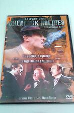 """DVD """"LAS AVENTURAS DE SHERLOCK HOLMES EL PACIENTE INTERNO LA LIGA DE"""" COMO NUEVO"""