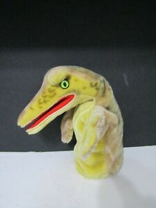 Vintage Steiff Hand Puppet Alligator Crocodile Mohair Button