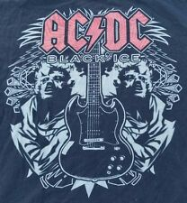 2010 AC/DC Black Ice graphic t-shirt men sz XL black/red/grey Rock Band
