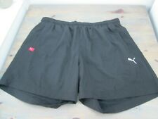 Black five inch running shorts by Puma, size Extra Large (also marked D56/58)