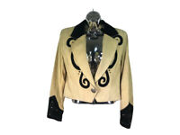 vtg Phoenix USA Frontier collection  western cropped jacket suede studded sz s