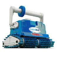 Aquabot Turbo T2 In Ground Robotic Pool Cleaner w/ Aquabot Caddy