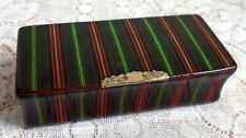 SMITH MAUCHLINE SNUFF BOX RARE PAPER FINISH, MANUFACTURERS TO HIS  MAJESTY