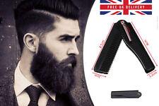 Fashion Mens Womens Handmade Folding Pocket Clip Hair Moustache Beard Comb UK