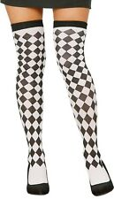 Ladies Sexy Chequer Board Harlequin Clown Fun Fancy Dress Tights Stockings Socks