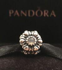 Authentic Pandora Birthday Bloom June Moonstone Sterling Silver Pandora Charm