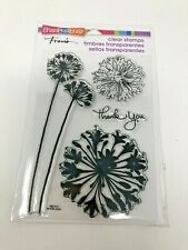Stampendous Fran's Agapanthus Thanks Clear Stamps Flowers SSC1111