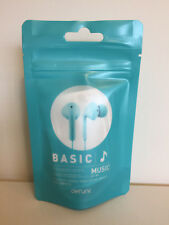 New DeFunc Basic Music Teal Earbuds With Mic And Remote