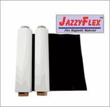 "Flex Magnetic Sign Material, 24"" x 25' x 30 Mil Roll, w/White Vinyl Laminate"