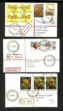 PAPUA NEW GUINEA 1983/90  3 x REG.CV = ABAU= DESTINATION !!  VF