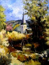 Countryside Chapel, Quality Hand Painted Oil Painting 30x40in
