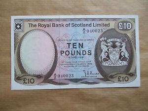 ROYAL   BANK  OF  SCOTLAND   £10  NOTE, 1974.  aUNC/ UNC.