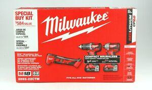 *Milwaukee 2892-22CTM M18 Brushless 2-Piece Combo Kit W/ Multi Tool