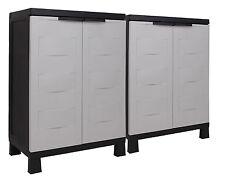 Ondis24 Kunststoffschrank Haushaltsschrank Terrassenschrank Small Prestige Set