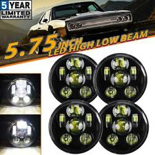 "4x 5.75"" 5-3/4"" inch LED Headlights DOT Lamp Hi-Lo Sealed Beam for Dodge Coronet"