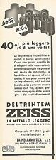 W9494 Binocolo Deltrintem ZEISS - Pubblicità 1937 - Old advertising