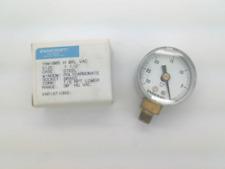 "Ashcroft 15W1005 H 01L VAC, Pressure Gauge, 30 Hg VAC - 0, 1/4"" NPT"