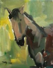 JOSE TRUJILLO - Original OIL PAINTING MODERN Collectible Horse Expressionist ART