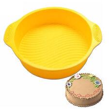 DlY 9 inch Round Cake Pan Shape 3D Silicone Cake Mold Bakeware Make Baking Tools
