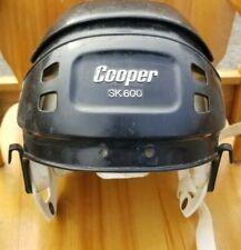 VINTAGE ice HOCKEY player HELMET COOPER SK600 SK 600 Black RARE Hurling *H150