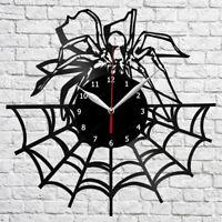 Skull Spider Bird Vinyl Wall Clock Made Of Vinyl Record Art Decor A387