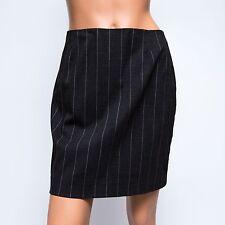Kenzo Paris Anthracite Gray Pinstripe Wool Mini Skirt NWOT $485 US6 FR38