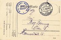 Alte Postkarte Feldpost Schöner Stempel Brigade Ersatz Bataillon 46 Dokument 1WK