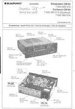 Blaupunkt Orig. Service Manual f. Wiesbaden Canberra CM