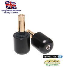 "Oberon Large Universal Bar End Weights 1"" Bars (22mm ID) - UBE-0922-BLACK"