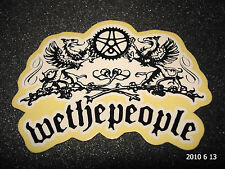1 AUTHENTIC WETHEPEOPLE BMX BICYCLES LARGE LOGO STICKER #1 / DECAL / AUFKLEBER