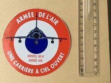 Autocollant Militaire Armée De L'air Avion Rafale Année 70/80