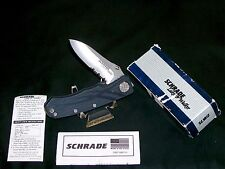Schrade SLW2 Knife Lake & Walker Liner Locker Limited Edition W/Packaging,Papers