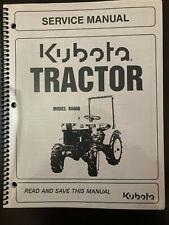 Kubota B6000 Wsm Service Manual