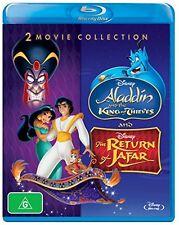 ALADDIN & THE KING OF THIEVES / RETURN OF JAFAR   - Blu Ray - Sealed Region B
