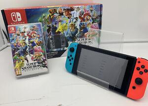 Nintendo Switch 32GB HAC-001 + Super Mario Smash Bros ULTIMATE   FAST SHIPPING