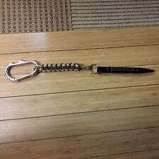 paracord lanyard with Kubaton and a bottle opener carabiner desert and coyote