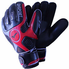 Mens Sports Soccer Football Goalkeeper Goalkeeping Goalie Black Gloves Size 9