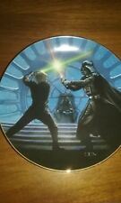 """Luke and Darth Vader Duel"" Star Wars Trilogy Hamilton Collection Mib Coa"