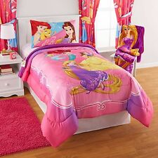 Disney Princess, Rapunzel, Belle & Ariel Twin Single Comforter & Sheet Set 4pcs