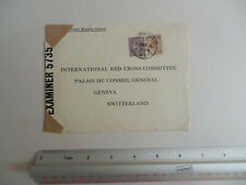 1941 CENSORED COVER FROM UK TO INTERNATIONAL RED CROSS, GENEVA