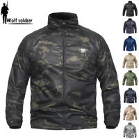 Army Mens Jacket Tactical Lightweight Quick Drying Military Coats Hooded Outdoor