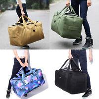80L Large Canvas Travel Hand Luggage Home Storage Organizer Foldable Duffel Bag