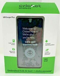 LG Escape Plus 32GB Prepaid Smartphone Gray Brand New Cricket Wireless