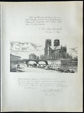 1926 - Litografia citazione il cardinale Amette e Dubois (ND di parigi) 14-18