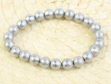 Meteorite Muonionalusta Beads 8mm Bracelet Flexible - 53.42g #Other2067