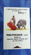 Risque Bamforth Political Comic Postcard 1970s POLITICIANS Bullfighter No 131